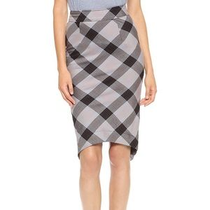 Free People plaid pencil skirt